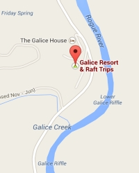 Galice Resort Map
